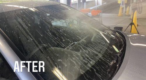 トヨタ 窓撥水 after